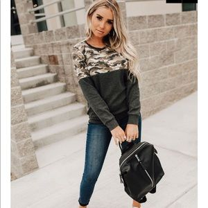 Camo Accent Pull Over